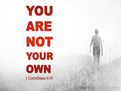 1 Corinthians 6:19 Your Body Is A Sanctury Of The Holy Spirit (red)